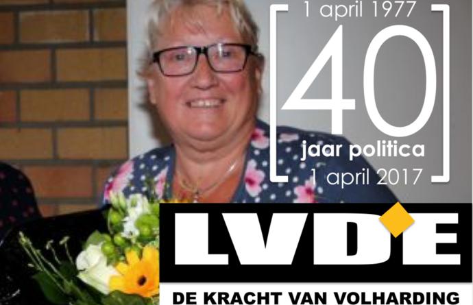 Linda Van den Eede: 40 jaar politiek actief