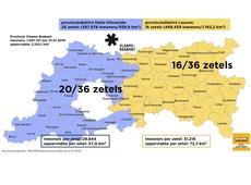 De nieuwe provinciedistricten van en zetelverdeling in Vlaams-Brabant