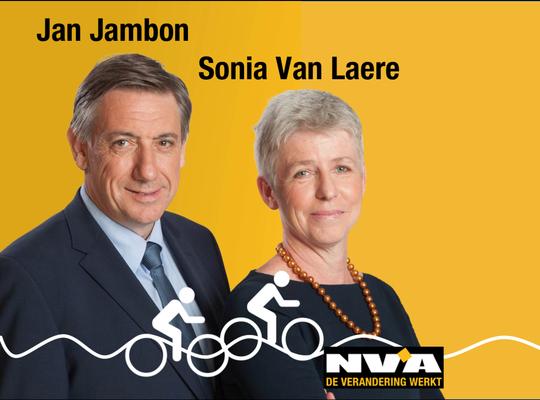 Sonia Van Laere & Jan Jambon voor een fietsveilig Huldenberg