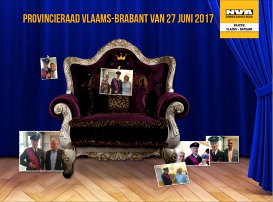 Videoverslag Provincieraad Vlaams-Brabant van 27 juni 2017