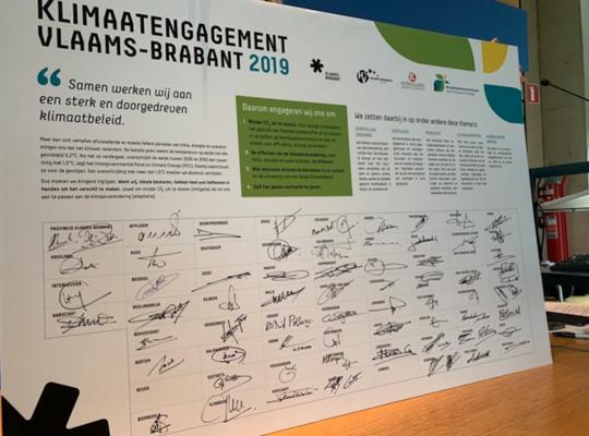 Klimaatovereenkomst gemeenten Vlaams-Brabant